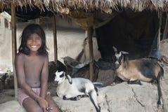 Niño indio del pueblo Fotos de archivo