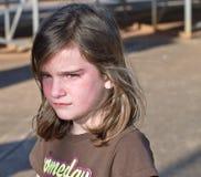 Niño infeliz Fotografía de archivo
