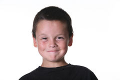 Niño joven con manierismos expresivos imágenes de archivo libres de regalías