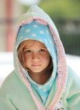 Niño joven en bathrob Fotos de archivo