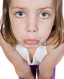 Niño lindo con la cara triste Imagenes de archivo