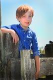 Niño lindo del país Imagen de archivo libre de regalías