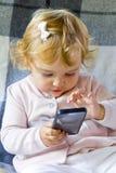 Niño lindo en rosa imagen de archivo libre de regalías
