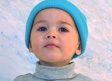 Niño listo para el frío Fotos de archivo libres de regalías