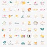 Niño Logo Set Imagen de archivo libre de regalías