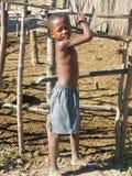 Niño malgache nativo fotografía de archivo