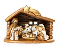 Niño, Maria y José del Jesucristo imagenes de archivo