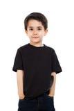 Niño masculino en estudio Foto de archivo libre de regalías