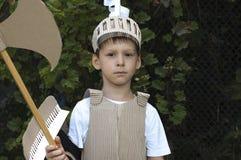 Niño medieval del caballero Imagen de archivo
