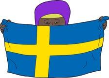 Niño musulmán sueco ilustración del vector