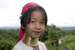 Niño necked largo, Asia Imagen de archivo libre de regalías