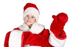 Niño Papá Noel Imagen de archivo