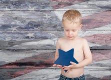 Niño patriótico Fotografía de archivo libre de regalías