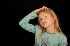 Niño pensativo Imagen de archivo libre de regalías