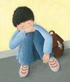 Niño pequeño abandonado ilustración del vector