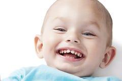 Niño pequeño adorable en blanco Fotografía de archivo