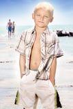 Niño pequeño alegre Foto de archivo libre de regalías