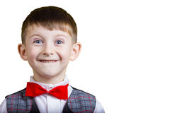 Niño pequeño alegre emocionado imagen de archivo