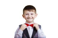Niño pequeño alegre feliz, emocionado imagenes de archivo