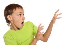 Niño pequeño asustado Fotos de archivo