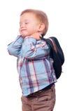 Niño pequeño bonito con el sombrero de vaquero Imagen de archivo libre de regalías