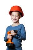 Niño pequeño con destornillador Fotos de archivo libres de regalías