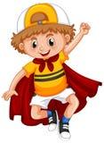 Niño pequeño con el cabo rojo ilustración del vector