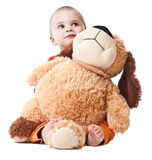 Niño pequeño con el juguete Imagen de archivo