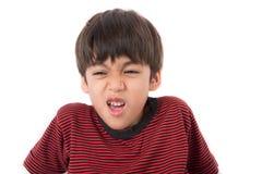 Niño pequeño con la cara de la tristeza y el retrato de los ojos Fotos de archivo libres de regalías