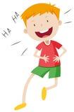 Niño pequeño con la cara feliz libre illustration