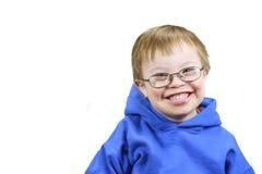 Niño pequeño con síndrome de los plumones Imagen de archivo libre de regalías