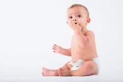 Niño pequeño curioso Imagen de archivo libre de regalías