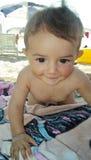 Niño pequeño de la playa Imagenes de archivo