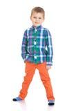 Niño pequeño de moda Imagenes de archivo
