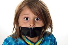 Niño pequeño del silencio Imágenes de archivo libres de regalías