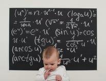 Niño pequeño del Wunderkind en matemáticas Imagen de archivo
