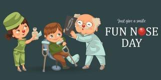 Niño pequeño en el cartel de la cita del traumatologist Libre Illustration