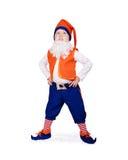 Niño pequeño en el gnomo fancy-dress Imágenes de archivo libres de regalías