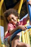 Niño pequeño en patio Imagen de archivo libre de regalías