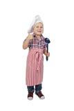 Niño pequeño en sombrero del cocinero del cocinero Fotos de archivo libres de regalías