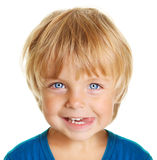Niño pequeño feliz aislado Imagen de archivo