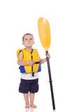 Pequeño muchacho deportivo lindo Imagen de archivo