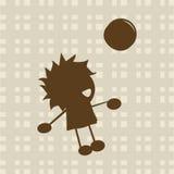 Niño pequeño que juega con la bola Foto de archivo libre de regalías