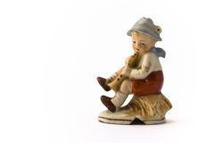 Niño pequeño que juega el tubo Fotografía de archivo libre de regalías