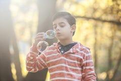 Niño pequeño que juega en el parque Imágenes de archivo libres de regalías