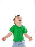 Niño pequeño que mira para arriba Fotografía de archivo libre de regalías