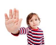 Niño pequeño que rechaza algo fotografía de archivo libre de regalías