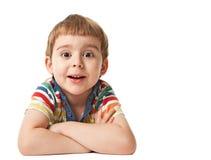 Niño pequeño sonriente Imágenes de archivo libres de regalías