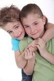 Niño pequeño y muchacha Fotografía de archivo