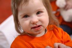 Niño perjudicado lindo Imagen de archivo